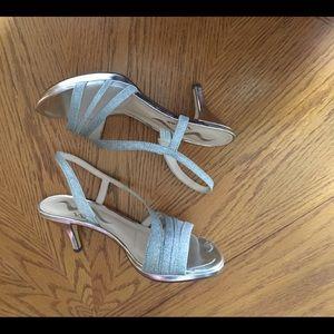 Nina silver dress sandal